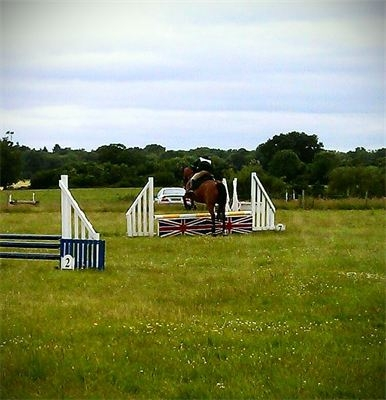 ODE Tracey jumping Bert at ODE hammer and harp