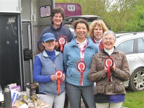 O.D.E GWW OBHN 2012 Winning team northwood riding club 2011