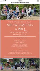 7thNov 2021 Show Jumping Comp at Stockers Farm